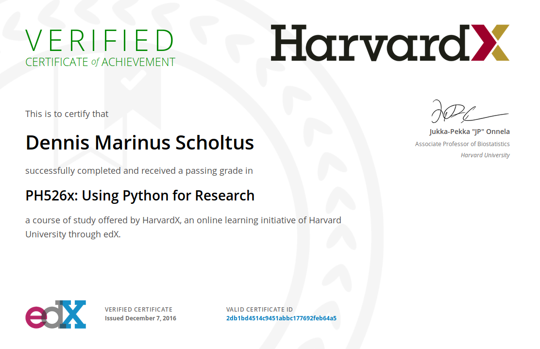 Harvard Python for Research